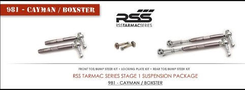 RSS 981 - Cayman / Boxster RSS TARMAC SERIES Stage - 1 Suspension Kit