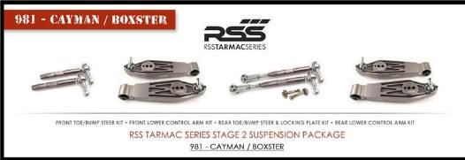 RSS TS-2-BC Tarmac Stage 2 Suspension Kit for Boxster/Cayman 981, 987, 986 Boxster / Caymans