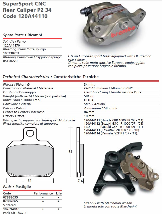 Brembo Brake Pads >> Brembo HP Calipers Brembo monobloc M4 GP4RX Calipers FREE EXPRESS SHIPPING