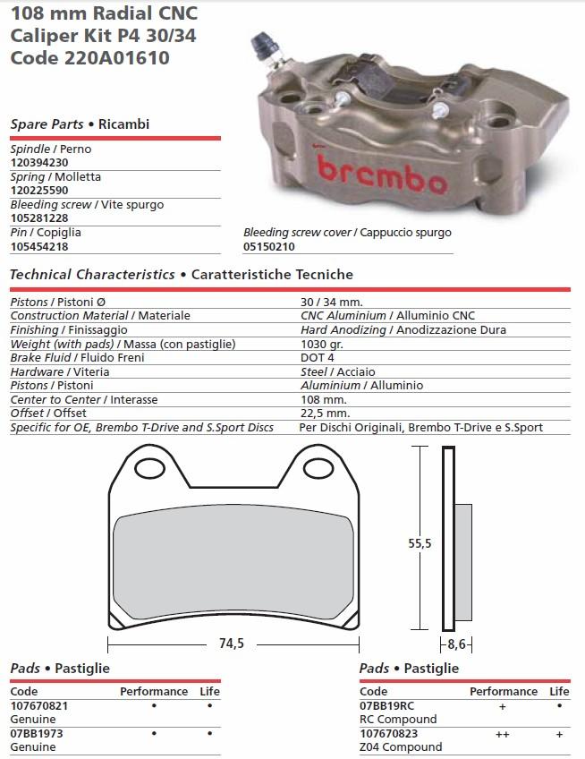 Brembo Hp Calipers Brembo Monobloc M4 Gp4rx Calipers Free