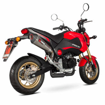 scorpion exhaust honda grom titanium stainless steel