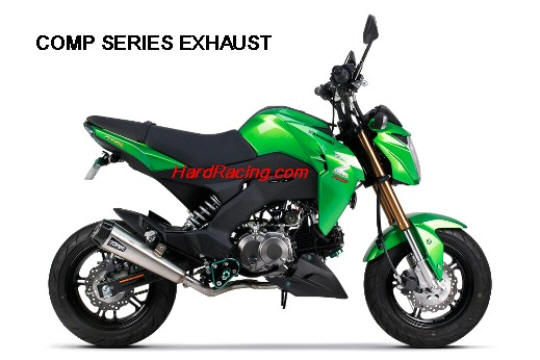 KAWASAKI Z125 COMP SERIES TWO BROTHERS EXHAUST