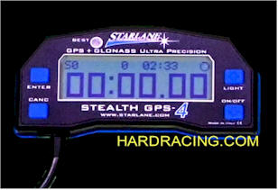 STARLANE STEALTH GPS-4 LITE MOTORCYCLE LAP TIMER