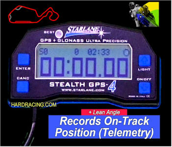 STARLANE STEALTH GPS 4 RACE LAP TIMER WITH TRACKING MAPPING LEAN ANGLE