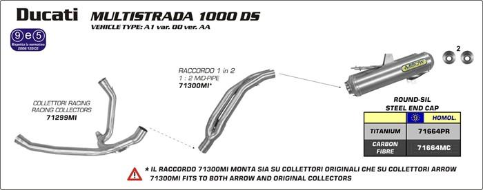 arrow exhaust ducati arrow multistrada 1000 ds