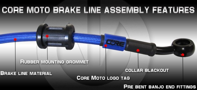 core moto brake line features